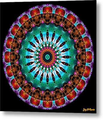 Colorful No. 9 Mandala Metal Print by Joy McKenzie