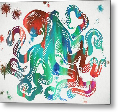 Colorful Octopus  Metal Print by Dan Sproul