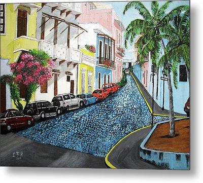 Colorful Old San Juan Metal Print by Luis F Rodriguez