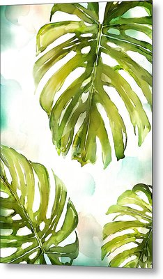 Colorful Palm Metal Print by Mauro DeVereaux