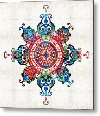 Colorful Pattern Art - Color Fusion Design 3 By Sharon Cummings Metal Print by Sharon Cummings