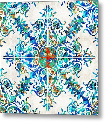 Colorful Pattern Art - Color Fusion Design 6 By Sharon Cummings Metal Print by Sharon Cummings