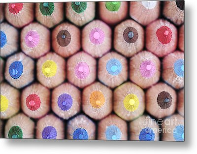 Colorful Pencils 2 Metal Print by Neil Overy