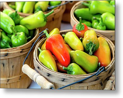 Colorful Peppers Metal Print