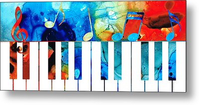 Colorful Piano Art By Sharon Cummings Metal Print by Sharon Cummings