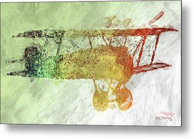Colorful Plane Art Metal Print
