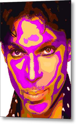 Colorful Prince - Purple Metal Print