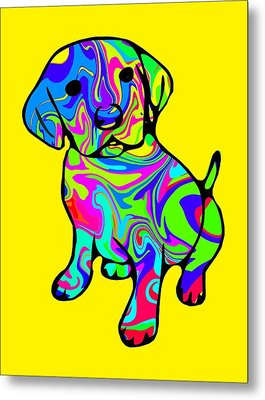 Colorful Puppy Metal Print