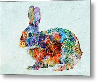 Colorful Rabbit Art Metal Print