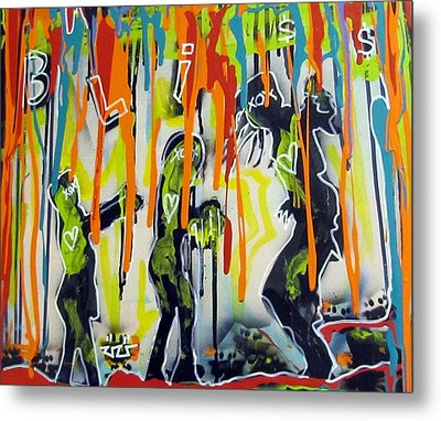 Colorful Rain And Bliss Metal Print by Robert Wolverton Jr