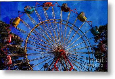 Colorful Ride Metal Print
