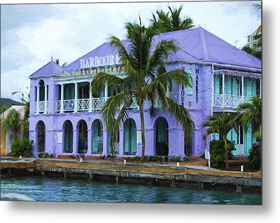 Colorful Shopping Experience On Tortola British Virgin Islands Bvi Metal Print