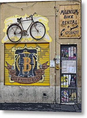 Colorful Signage In Palma Majorca Spain Metal Print
