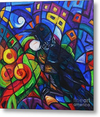 Colorful Song Of Tui Metal Print by Dianne  Connolly