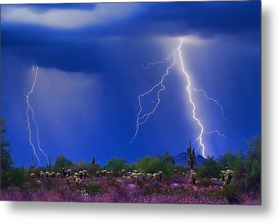 Colorful Sonoran Desert Storm Metal Print by James BO  Insogna