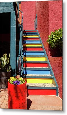Colorful Stairs Metal Print by James Eddy