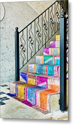 Colorful Stairs Metal Print by Tom Gowanlock