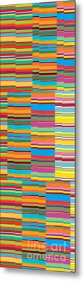 Colorful Stripes Metal Print by Ramneek Narang