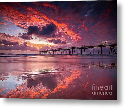 Colorful Sunrise Metal Print by Rod Jellison