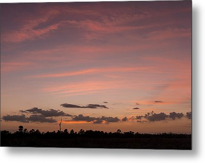 Colorful Sunset Over The Wetlands Metal Print