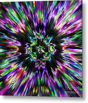 Colorful Tie Dye Abstract Metal Print by Phil Perkins
