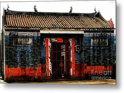 Colorful Times Temple Hall Metal Print by Kathy Daxon