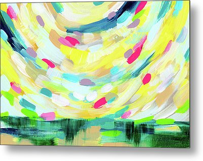 Colorful Uprising 3-  Art By Linda Woods Metal Print by Linda Woods