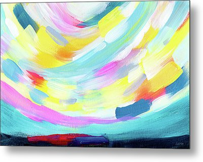 Colorful Uprising 4 - Abstract Art By Linda Woods Metal Print by Linda Woods