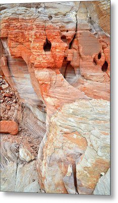 Metal Print featuring the photograph Colorful Wall Of Sandstone In Valley Of Fire by Ray Mathis