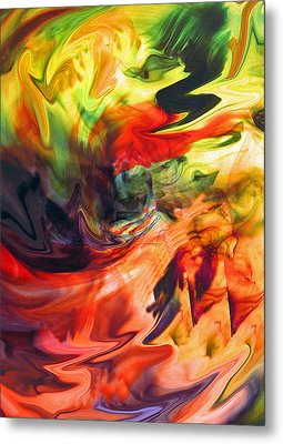 Colorful Waves Metal Print by Jennifer Godshalk