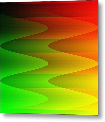 Metal Print featuring the digital art Colorful Waves by Kathleen Sartoris