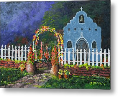 Colorful Welcome Metal Print by Jerry McElroy