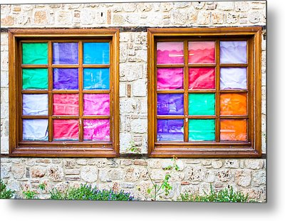 Colorful Windows Metal Print by Tom Gowanlock