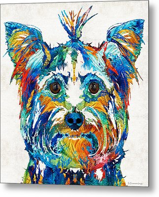 Colorful Yorkie Dog Art - Yorkshire Terrier - By Sharon Cummings Metal Print by Sharon Cummings