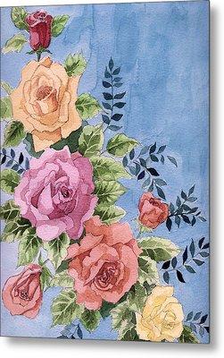 Colorfull Roses Metal Print by Alban Dizdari