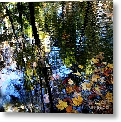 Colors Are Deeds And Sufferings Of Light Metal Print by Monika A Leon