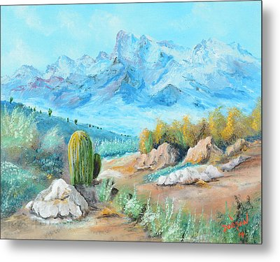 Colors In The High Desert Metal Print by Lloyd Dobson