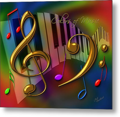 Colors Of Music Metal Print by Judi Quelland