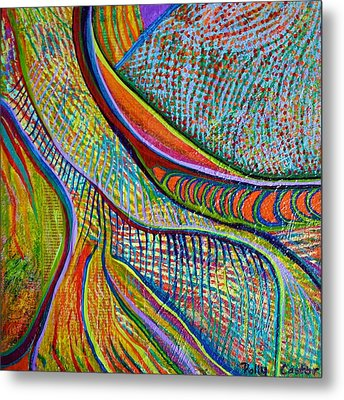 Metal Print featuring the mixed media Colors Of Ridgefield by Polly Castor