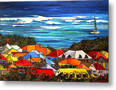 Colors Of St Martin Metal Print by Patti Schermerhorn