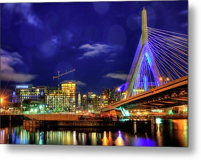 Metal Print featuring the photograph Colors Of The Zakim Bridge - Boston, Ma by Joann Vitali