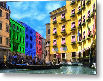 Colors Of Venice Metal Print by Jeffrey Kolker