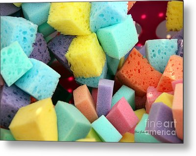 Colors Sponges Metal Print