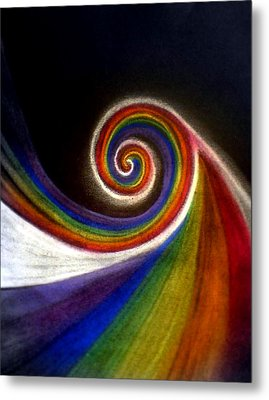 Colorswirl Of Creation Metal Print by Ahonu