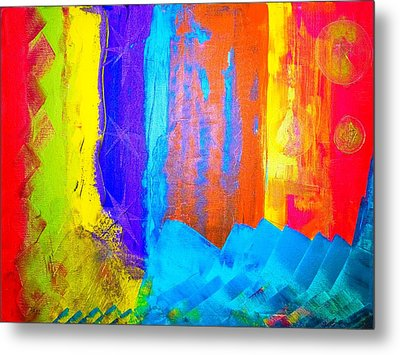 Metal Print featuring the painting Colorz by Piety Dsilva