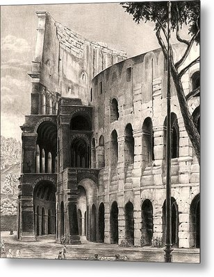 Colosseo Metal Print by Norman Bean