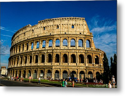 Colosseo Roma Metal Print by Rainer Kersten