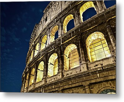 Metal Print featuring the photograph Colosseum by Brian Bonham