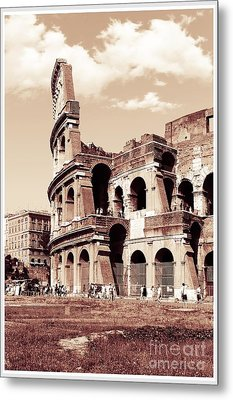 Colosseum Toned Sepia Metal Print by Stefano Senise