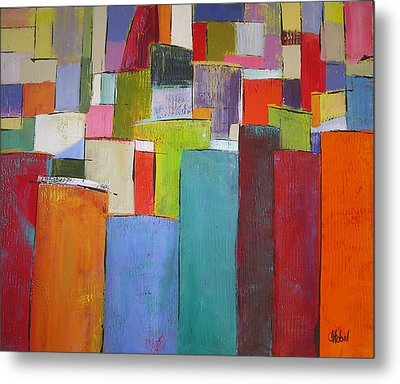 Metal Print featuring the painting Colour Block7 by Chris Hobel